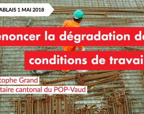 Christophe Grand – Dénoncer la dégradations des conditions de travail – Radio Chablais