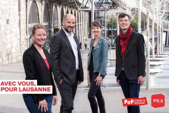 Une liste solidaire, paritaire et écologiste pour la Municipalité de Lausanne