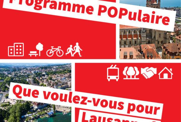 Élections communales Lausanne : Participez à notre programme populaire