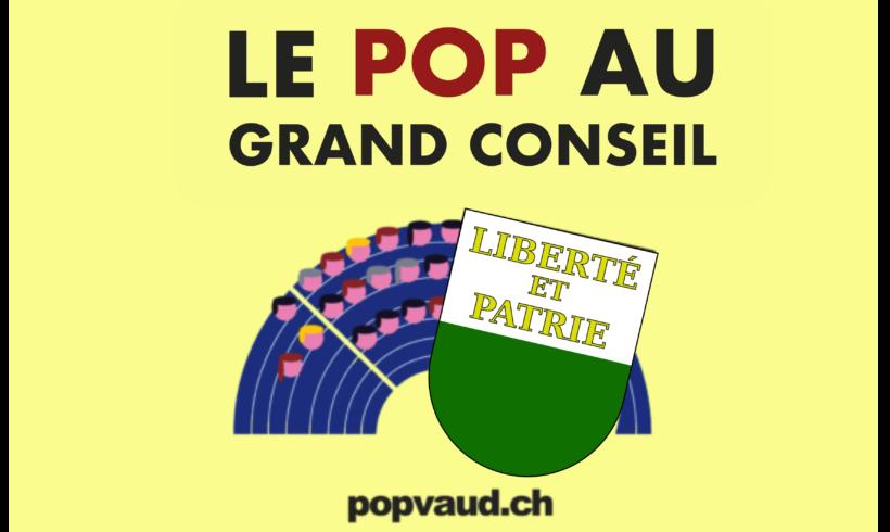 Actu des élus et élues POP au Grand Conseil vaudois – 16.12.20