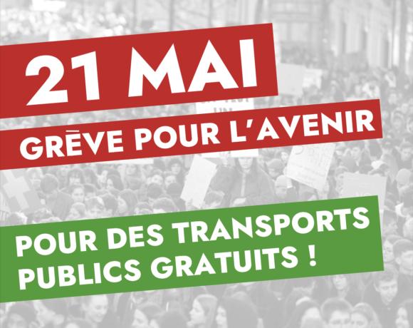 Tract POP – Grève pour l'avenir – Pour des transports publics gratuits